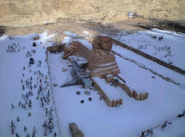 Mısırda kar haberi yalan