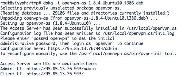 OpenVPN unzip install