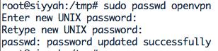 OpenVPN change pass