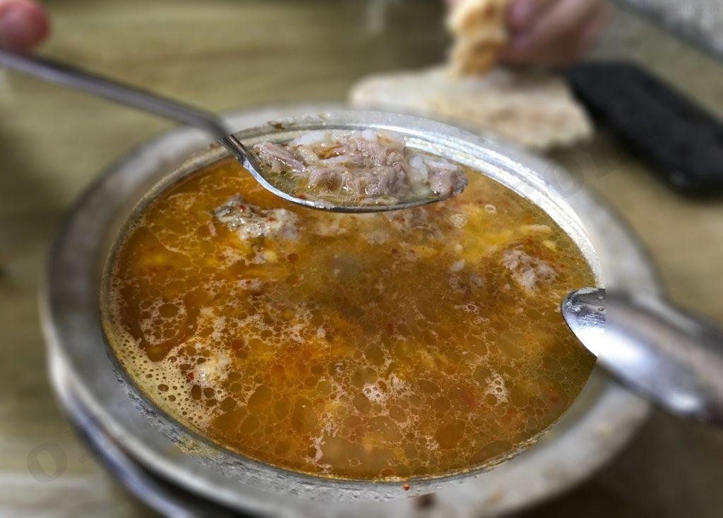 Metanet Beyran çorbasının görünüşü