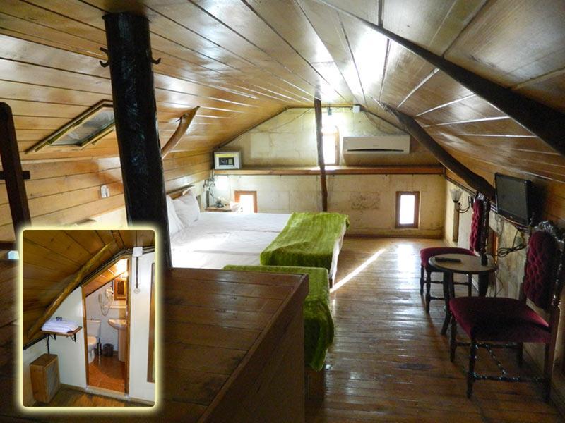Rahmibey Konağının Çatı katının görüntüsü